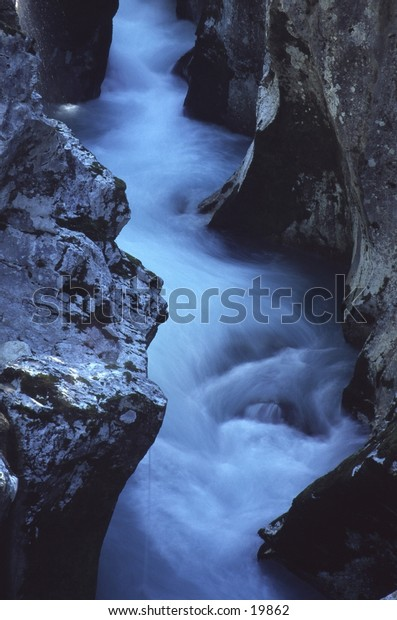 Fast Flowing Mountain River