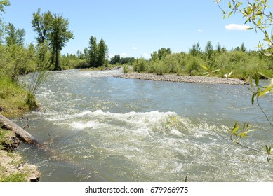 Fast Flowing River in Montana