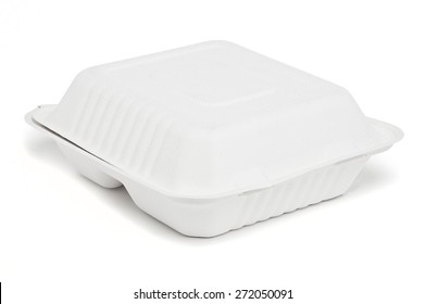 Fast food box on white background