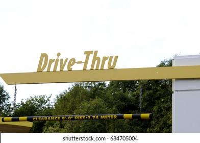 Fast Food Drive Thru Sign