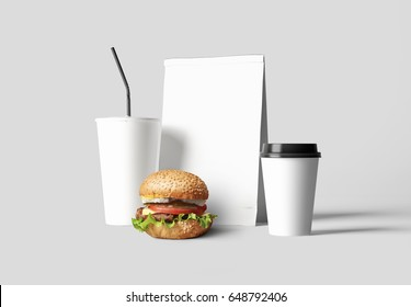 Fast food identity background