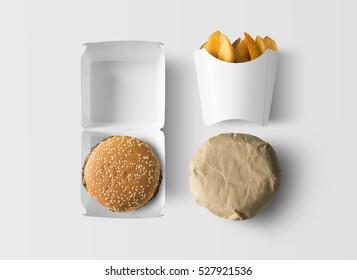 Fast food identity mock up