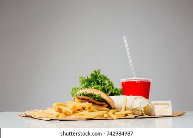 fast food is on the table