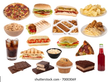 Fast food and snacks collection