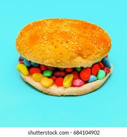Fast food surreal fashion art Burger