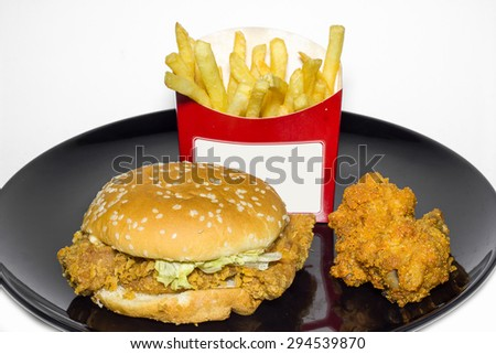 Fast Food Tasty Chicken Burger Fried Stock Photo Edit Now