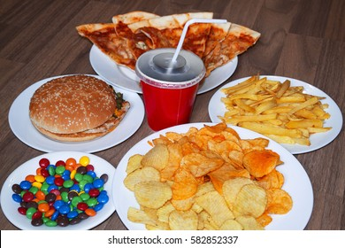 Fast Food And Unhealthy Eating Concept