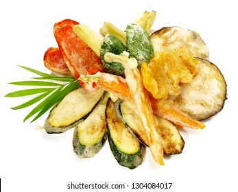 Fast Food - Vegetable Tempura with Soy and Dipping Sauce