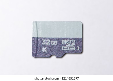Fast micro sd card isolated on white