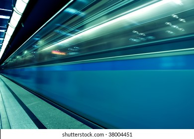 fast moving train by motion