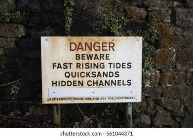 Fast Rising Tides Sign - Beware