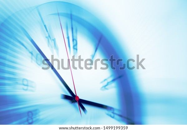 Fast speed times clock business working hours moving concept