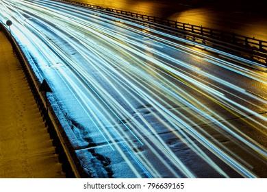 fast trafic lights on highway