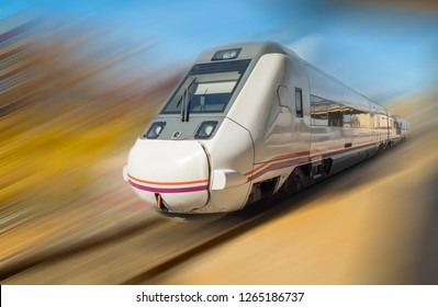 Fast train passing by