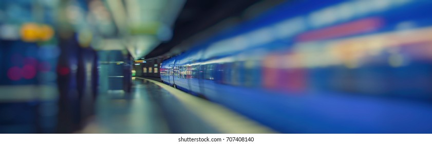 fast train passing metro station