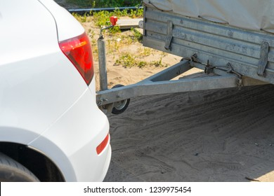 Fastening of the trailer for the car. Place for your text.