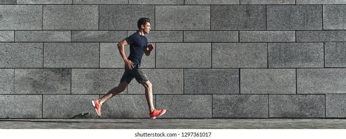 Faster than ever. Full length of young man in sports clothing running while exercising outside