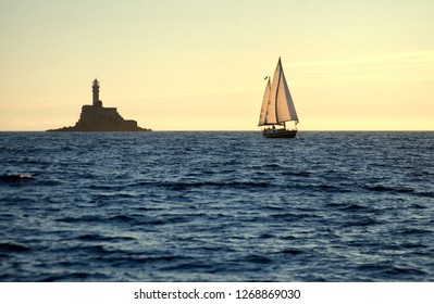 Fastnet and boat
