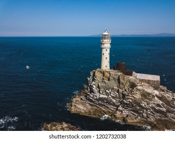Fastnet lighthouse at summer