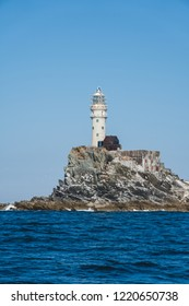 Fastnet lighthouse. A view from the boat
