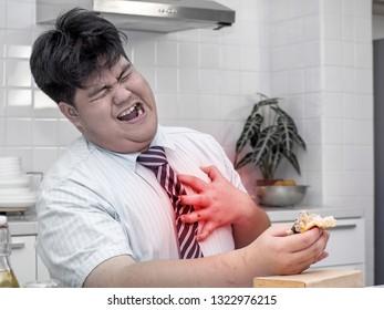 Fat asian man