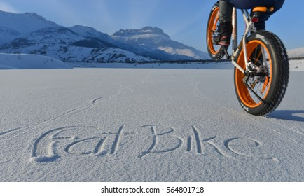 fat bike ride in the snowy mountains