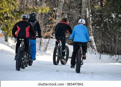 Fat biking riding in winter