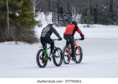 Fat biking in winter