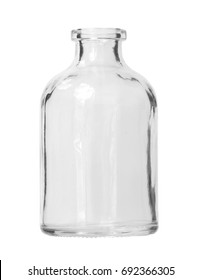 Fat Glass Bottle isolated on white background Clipping Path