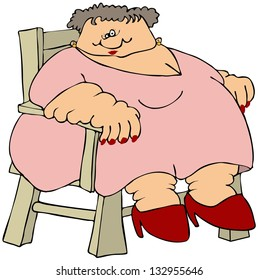 fat lady cartoon images stock photos vectors shutterstock rh shutterstock com Funny Fat Person Cartoon Fat Lady Eating