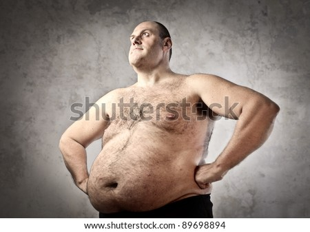 Chubby hairy model