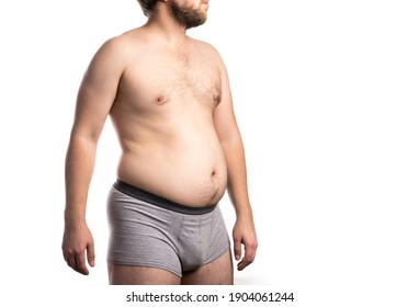 Fat man with a big belly. Man at risk for diabetes, Obese people with diabetes
