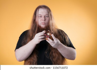Fat Man Long Hair Stock Photos, Images & Photography | Shutterstock