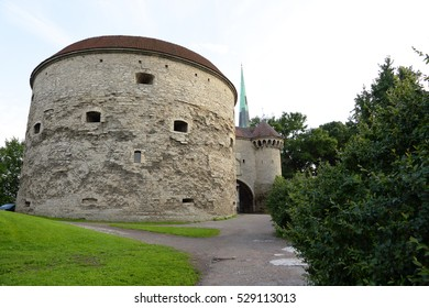 """Fat Margaret"" tower of Tallinn city wall. This round, low cannon tower served many purposes in the past such as a storehouse, barracks and prison; today, it houses the Maritime Museum in Estonia."