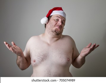 Fat naked santa don't care