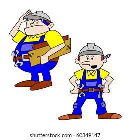 Fat and Thin Workmen/Craftsmen