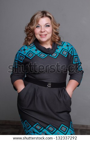 Chubby middle aged women