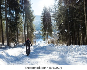 Fatbike on Snow in the Alps