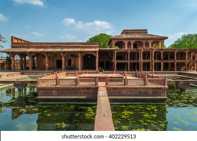 Fatehpur Sikri, an ancient palace built by the Mughal rules Akbar in Agra, India