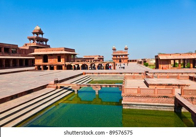 Fatehpur Sikri, India. It is a city in Agra district in India. It was built by the great Mughal emperor, Akbar beginning in 1570.