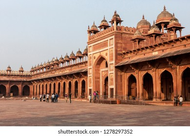 Fatehpur Sikri. Mughal Empire Mosque. Unesco World Heritage. 14th century. Bharatpur. Rajasthan. India.