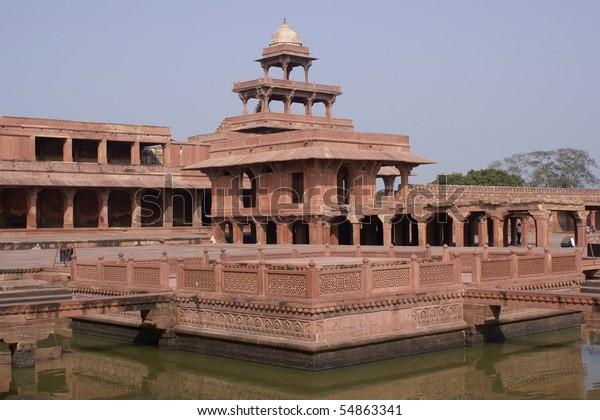 Fatehpur Sikri Palace of Mughal emperor Akbar in Uttar Pradesh, India