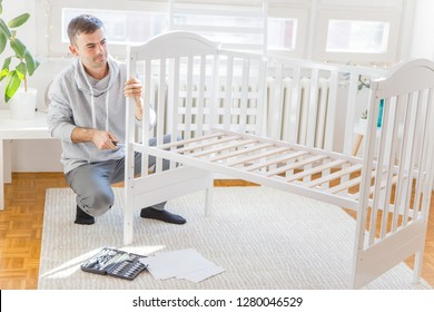 Father assembly crib for the newborn child