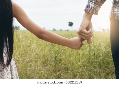 Royalty Free Father Daughter Holding Hands Images Stock Photos
