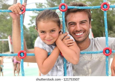 Father and daughter at the park