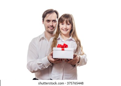 The father grants to the daughter a gift by St. Valentine's Day
