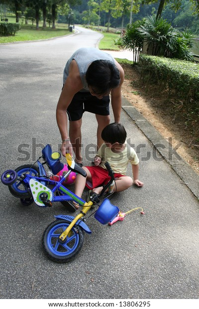 How To Catch Falling Son >> Father Helping Son Getting Falling Off Stock Photo Edit Now
