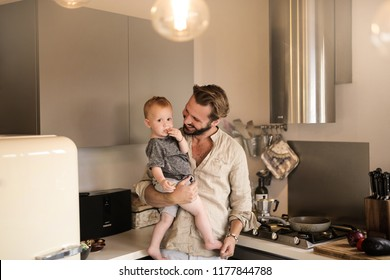 Father and his baby enjoying time together.
