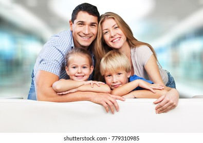 Father, mother and children