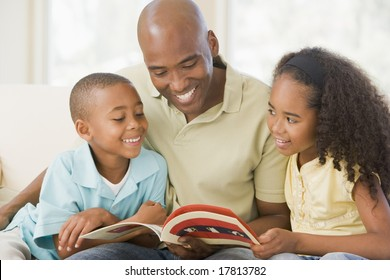 Father reading children a story